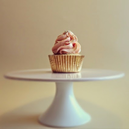Vanilla cherry surprise cupcake