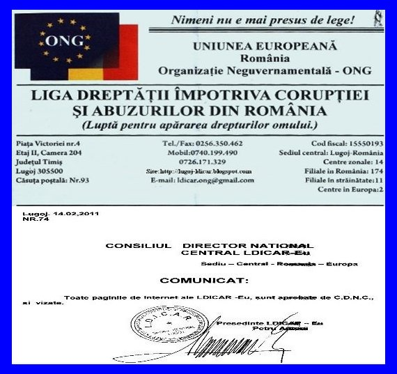 Comunicat al CDNC al LDICAR-EUROPA