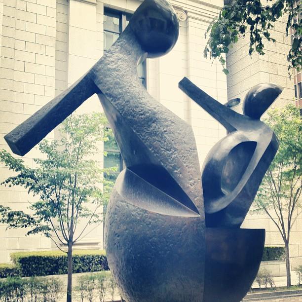 Tomita Masakuni sculpture: To a Prosperous Tomorrow.
