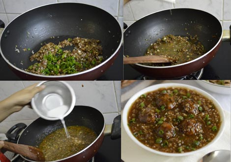 how to make vegetable manchurian gravy