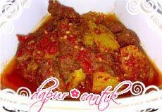 resep masakan balado daging sapi campur kentang dapur cantik