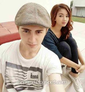 Foto Glenca Chysara bersama dengan Cemal Faruk
