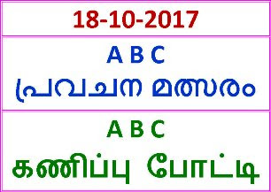 18-10-2017 A B C Guessing Competition