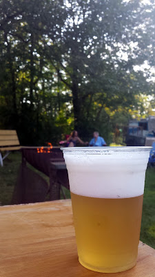A glass of French Blonde at the Rib Burn Off!
