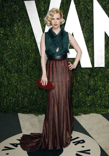 Look January Jones Oscar 2012