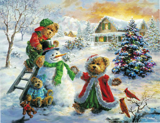 Christmas Bears printable christmas cards