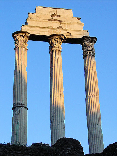 the roman forum temple of castor and pollux. Black Bedroom Furniture Sets. Home Design Ideas