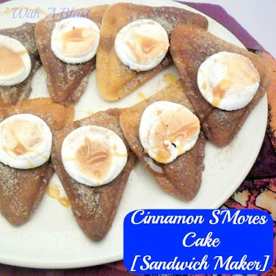 Cinnamon S'Mores Cake [Sandwich Maker]