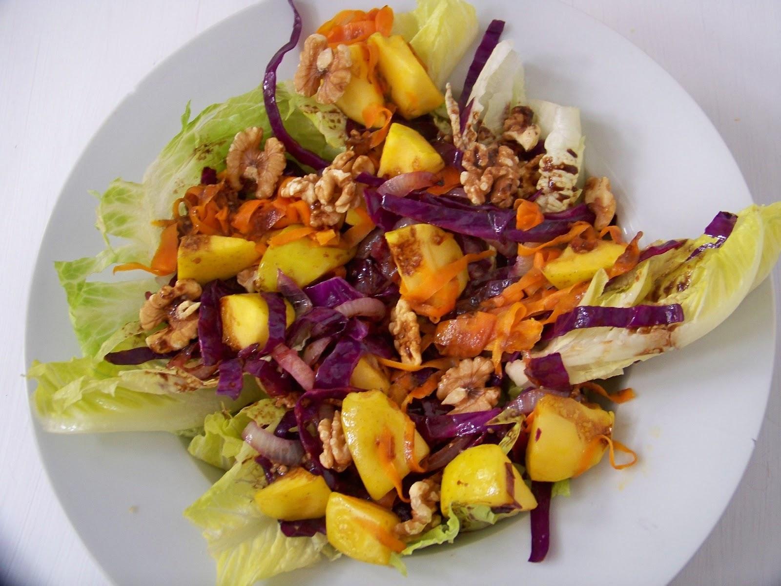 Come y disfruta ensalada tibia de col lombarda for Cocinar col lombarda