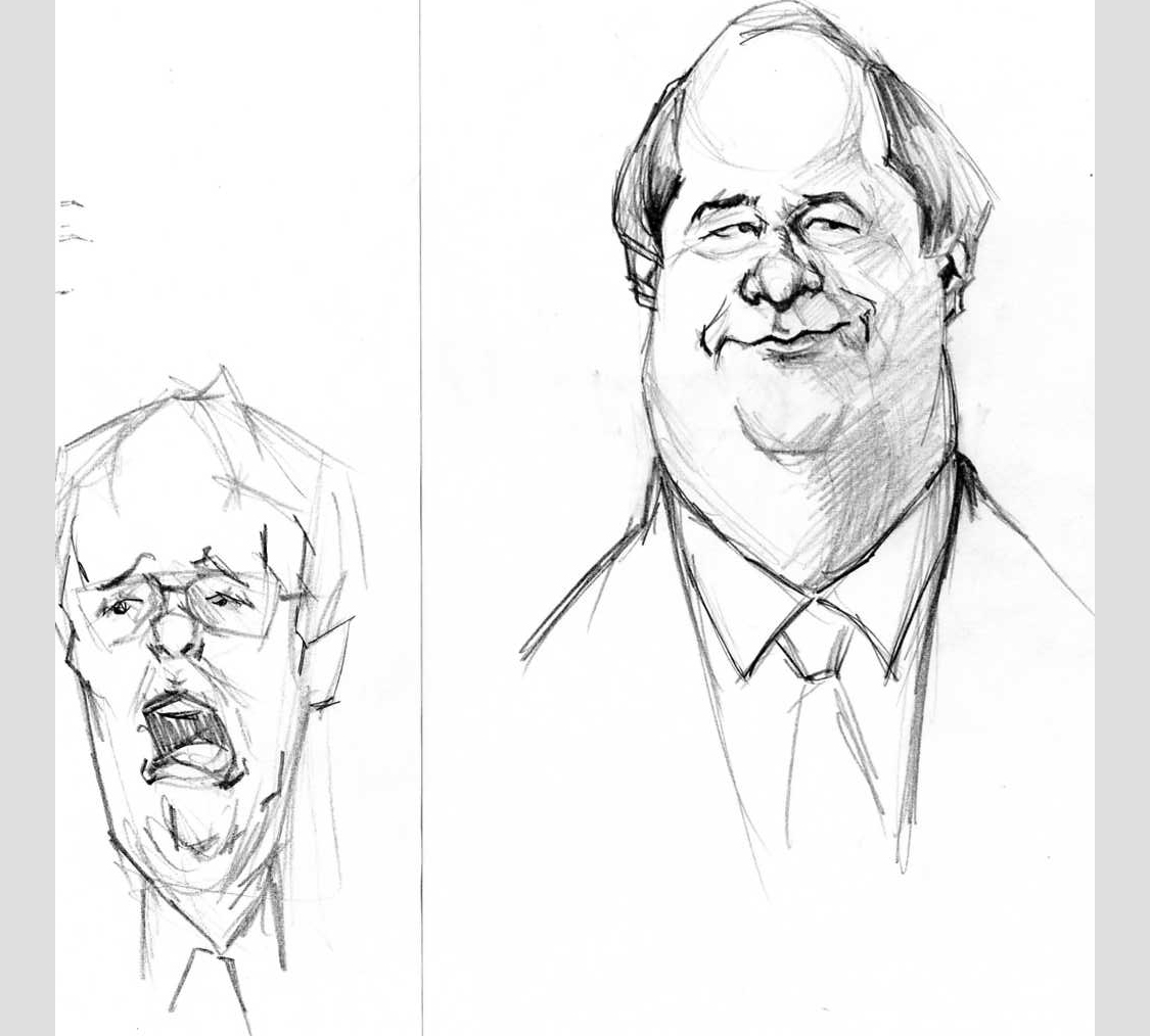 Sketches Jason Horning Art Vin Diesel