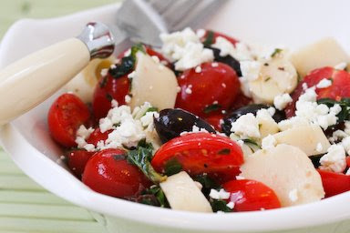 Hearts of Palm Salad with Tomatoes, Olives, and Feta