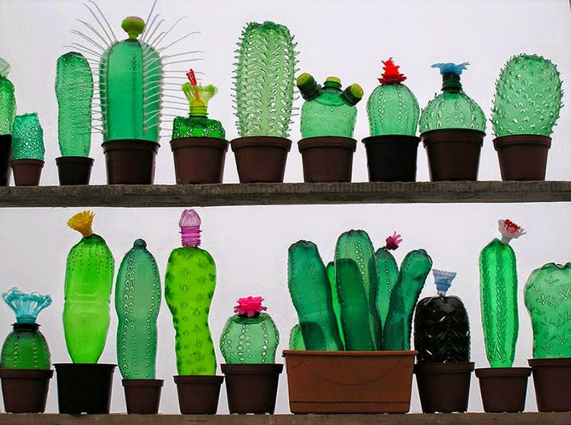 Obras de Arte con Botellas PET Recicladas