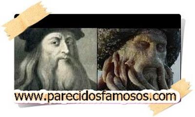 Leonardo da Vinci con Davy Jones