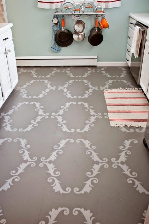 Como pintar suelos con chalk paint el taller de la for Pintar suelo ceramico