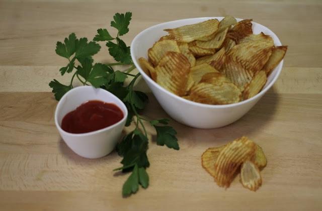 Patatas chips onduladas - El dulce mundo de Nerea