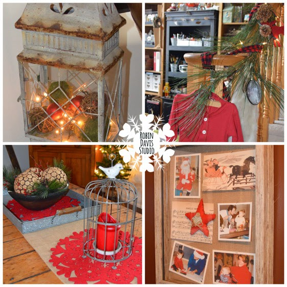 Christmas decor around the house and studio | Robin Davis Studio