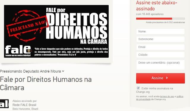'Rede Fale' de BH promove abaixo-assinado contra Marco feliciano