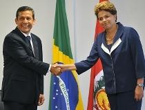 Brasil-Peru: HUMALA REÚNE-SE COM DILMA E DIZ QUE TERÁ BRASIL COMO EXEMPLO