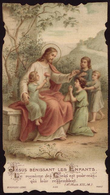 Jesus bénissant les Enfants dans images sacrée Jesus+blesses+the+children.+The+kingdom+of+heaven+is+for+those+who+resemble+Him