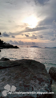 evening sunset rocks and sea