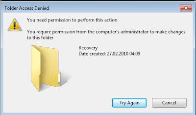 Cara Mengatasi Acces is Denied Pada Saat File Dibuka