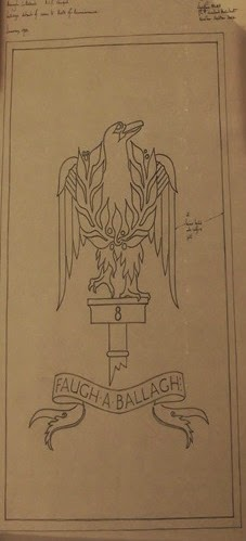 Drawing of detail from Armagh Cathedral memorial