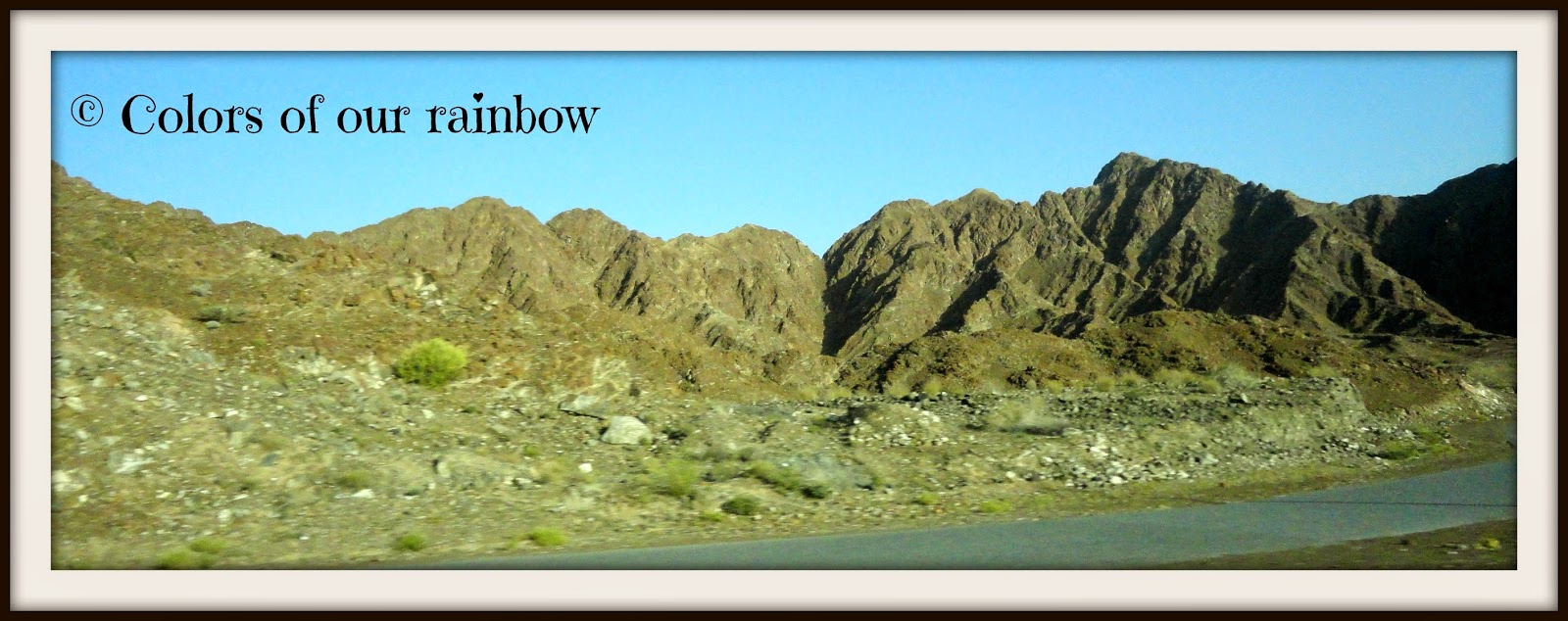 The highway to khorfakkan @colorsofourrainbow.blogspot.ae