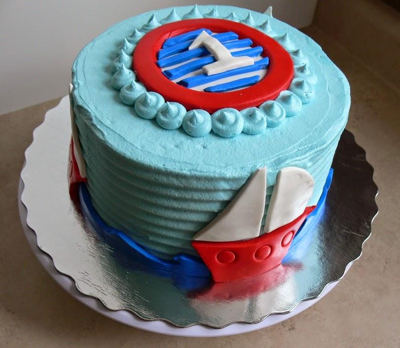 Ultimately Chocolate CAKES Simple Nautical Theme Birthday Cake with