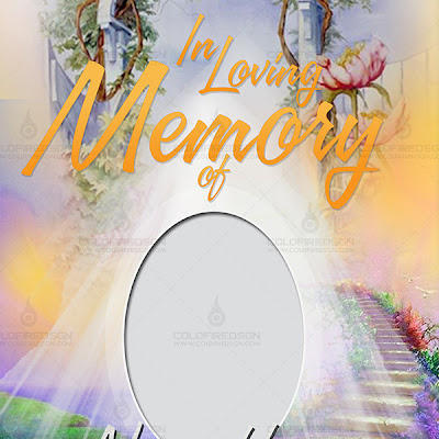 Funeral Poster Design - In Memory Of