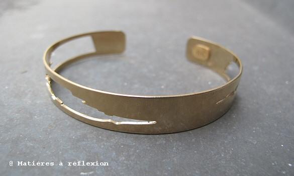 Bracelet ajouré doré Adeline Cacheux