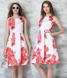 Sweet Lady Fashion Brand Flare Swing Dresses 2