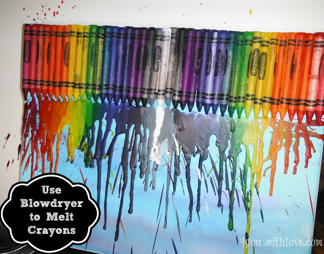 Melted crayon art joann capediscovery 4 you with love for Melted crayon art techniques