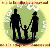 No a la adopción homosexual