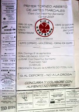 1º ABIERTO DE ARTES MARCIALES  COPA CLUB DEPORTIVO SARMIENTO (CARHUE 09/09/2001)