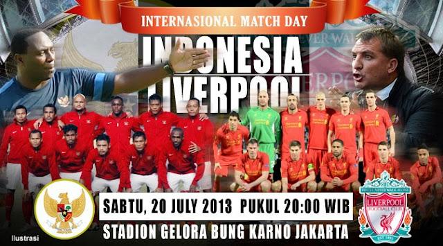 Hasil Skor Akhir Indonesia XI vs Liverpool (Sabtu, 20 Juli 2013)