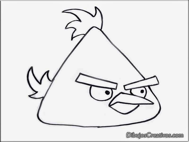Dibujos para colorear de pajaro amarillo de Angry Birds - Imágenes ...