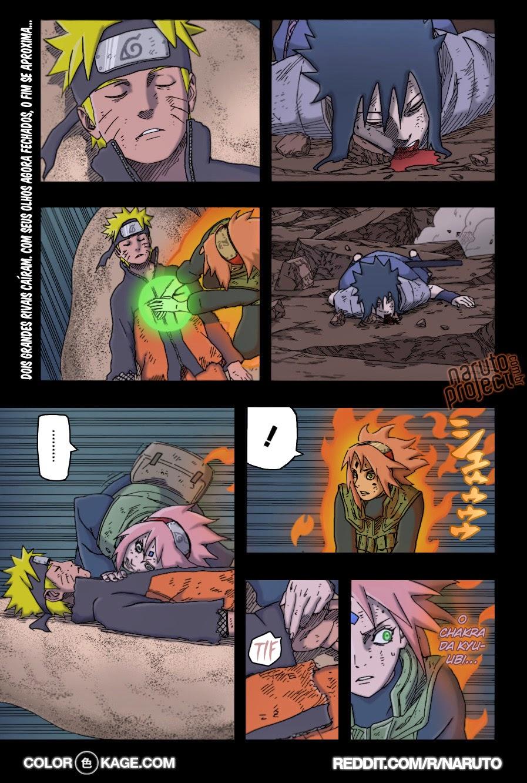 Naruto 663 Mangá Colorido leitura online