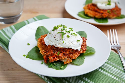 Quinoa Cakes with Roasted Red Pepper and Walnut Pesto ...