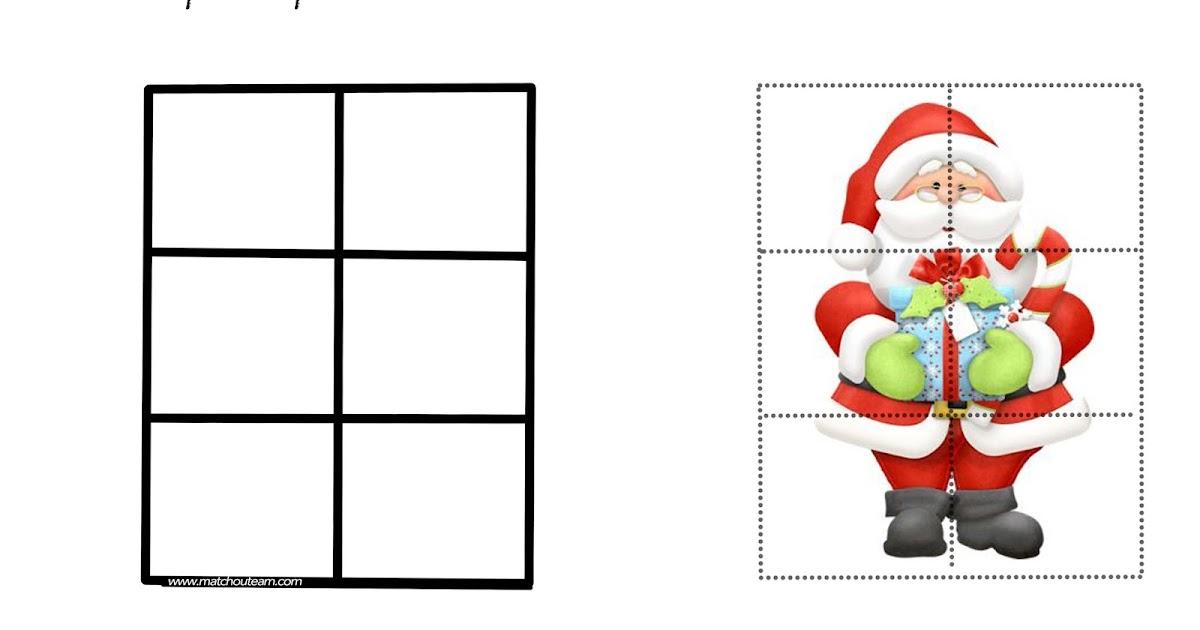 puzzle pere noel Ma Tchou team: Coloriages et jeux pour Noël puzzle pere noel