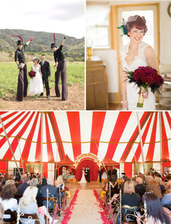 Vintage circus wedding, matrimonio ispirato al circo