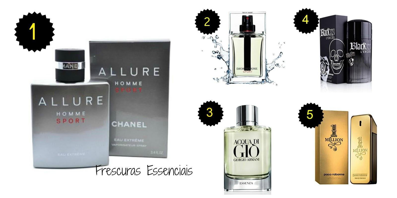 a6a729130 Frescuras Essenciais  TOP 5 - Perfumes Femininos e Masculinos
