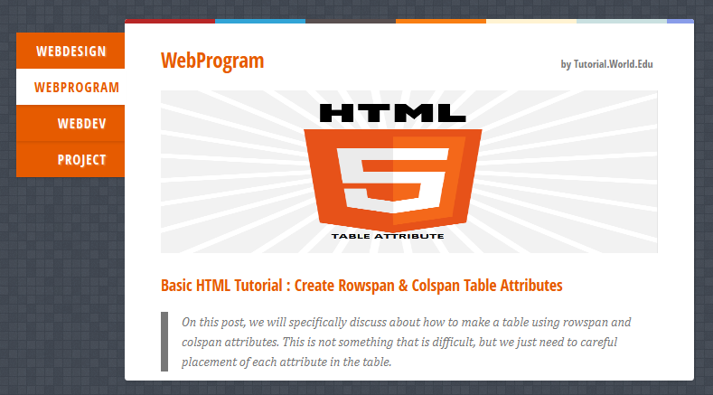 Create Vertical Tabbed Content Menu Using jQuery And CSS
