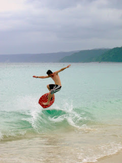 skimboarding on okinawa beaches