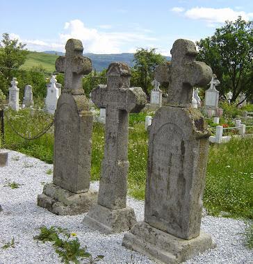 Cruci în cimitir din sec. al XIX-lea