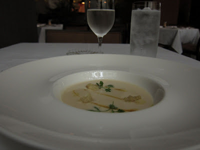 Cauliflower veloute at Ame in SF