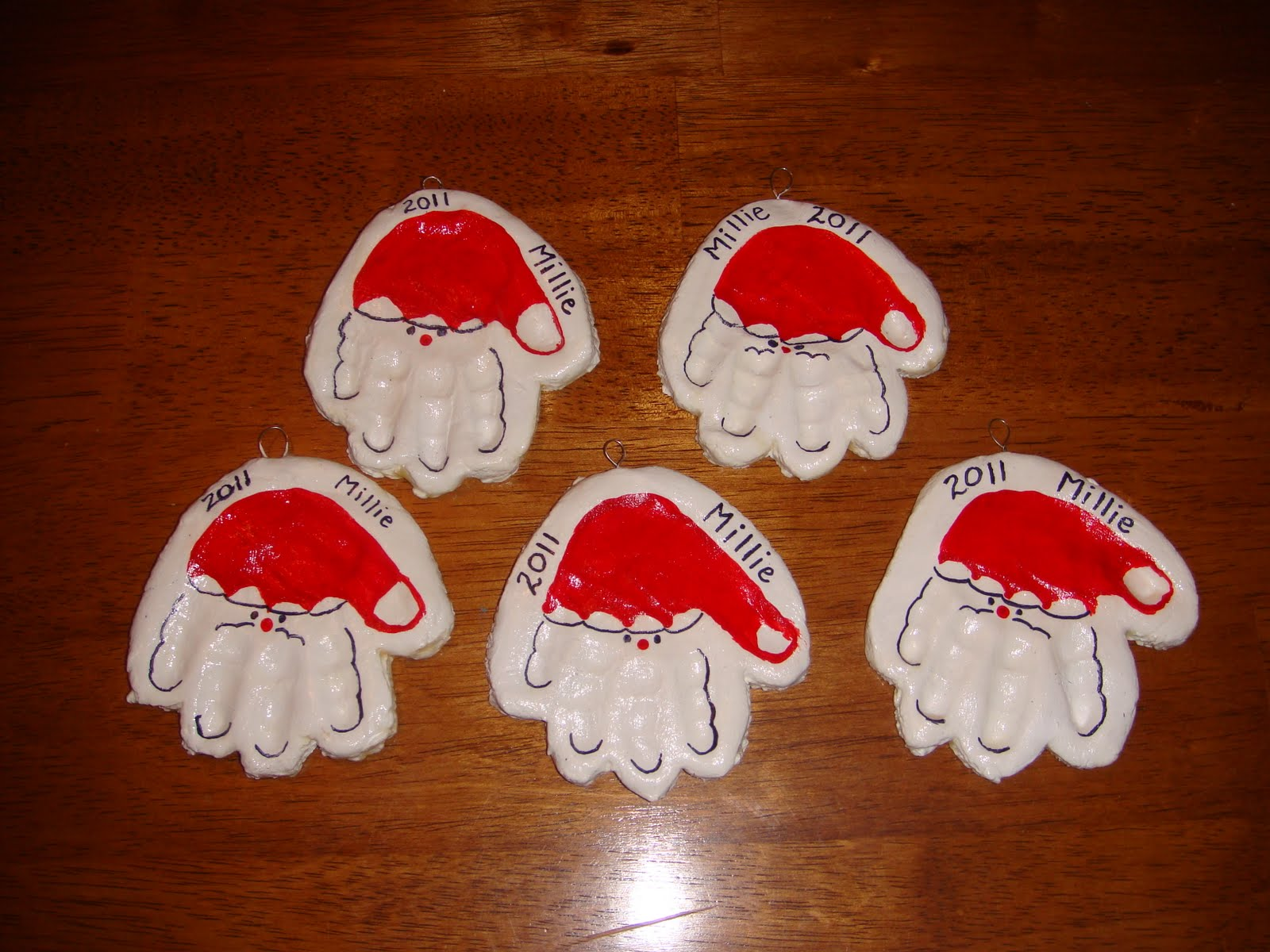 Homemade christmas 2 handprint ornaments nasagreen for Homemade christmas ornaments to make