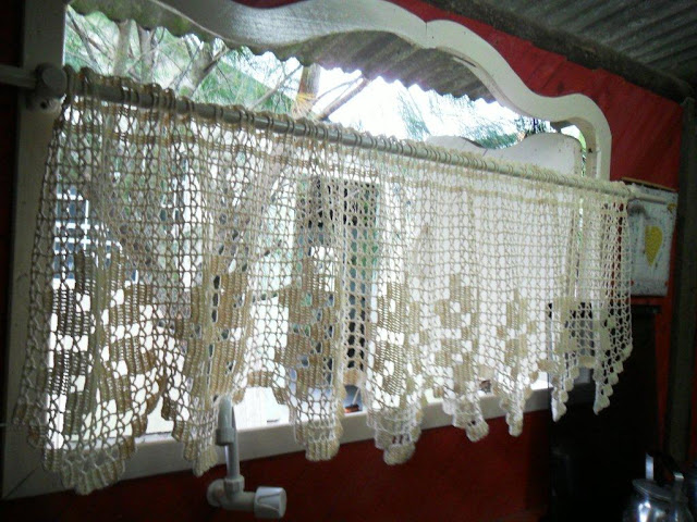 Minha vida de campo cortina de croch - Cortinas para casa de campo ...
