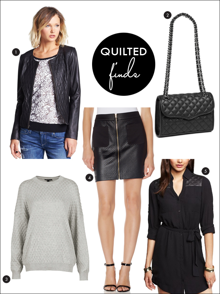 Quilted leather, quilted trend, shirt dress, handbags, nordstrom, express, the limited, topshop