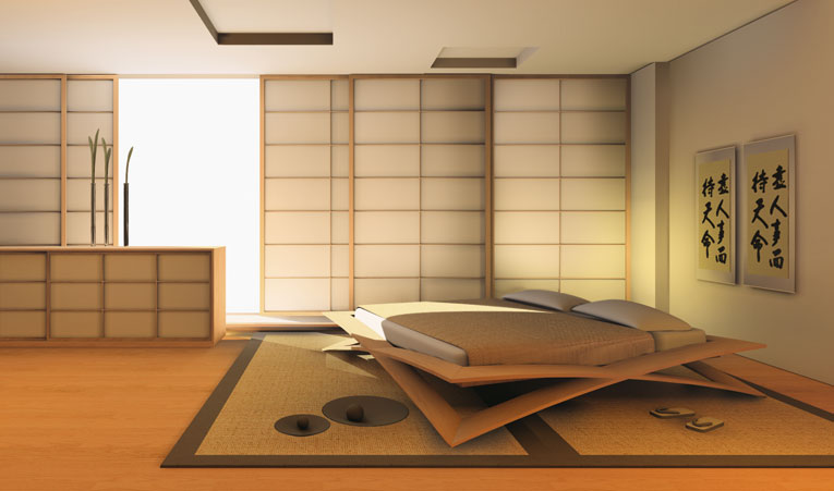 Galleryinteriordesign japanese bedroom interior design for Zen type bedroom ideas