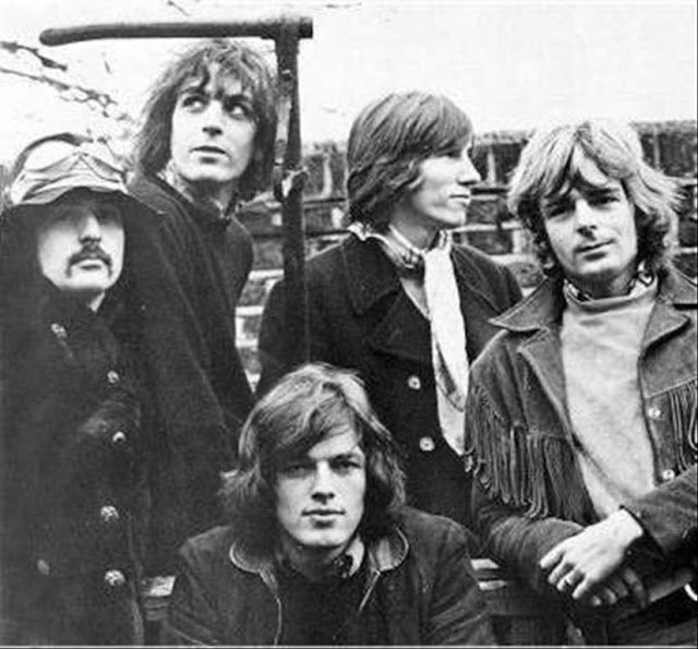 Pink Floyd, in January 1968, from the only known photo-shoot of all five members